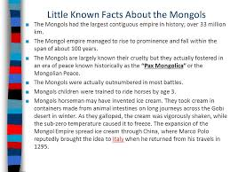 known facts about the mongols ppt