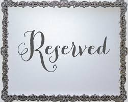 Wedding Seating Signs Reserved Table Signs For Wedding Tbrb Info