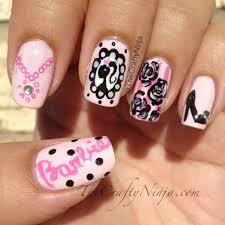 cameo barbie nails thecraftyninja com nail art pinterest