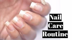 my weekly nail care routine youtube
