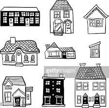 Types Of Houses Pictures Different Types Of Houses In Black And White Vector Art Getty Images