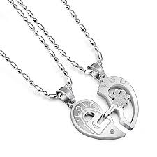 couple chain necklace images Buy generic best couple chain necklaces pendant lover valentine 39 s jpg