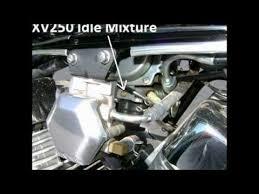 yamaha virago 250 idle mixture adjustment youtube