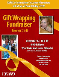 christmas wrapping paper fundraiser gift wrapping fundraiser kvpac west oaks kids out and