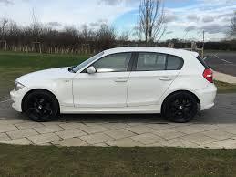 bmw black alloys bmw 1 series 2 0 118d es 5dr white with black alloys mcm auto