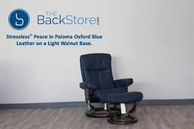 light blue recliner chair stressless peace recliner chair and ottoman oxford blue paloma