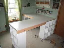 How To Build An L Shaped Desk Furniture Brown Lacquered Wooden Diy L Shaped Desk With White