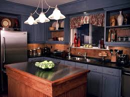 Blue Kitchen Decor Ideas Country Kitchens In Denim Blue Cabinets From Candice Home