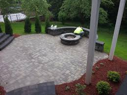 paver patio designs with fire pit and built in pictures amazing