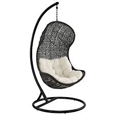 Hanging Chairs Outdoor Amazon Com Lexmod The Parlay Rattan Outdoor Wicker Patio Swing