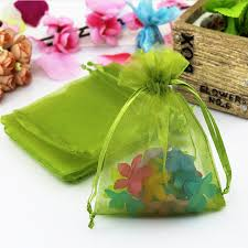 organza drawstring bags 100pcs lot olive green color organza bags 9x12cm wedding favour