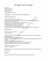awesome collection of sle of bank teller resume with no