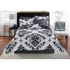 Black And White Damask Duvet Cover Queen Black Comforters