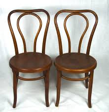 Wooden Bistro Chairs Two Antique Oak Bentwood Bistro Chairs Ebth