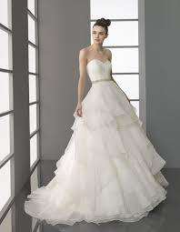 stunning white strapless ball gown aire barcelona wedding dress