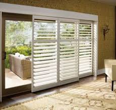 window treatments for doors with glass bypass shutters for sliding glass doors home living rooms