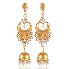 jhumki earring buy gold vermeil sterling silver indian jhumka free shipping