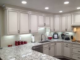Kitchen Light Under Cabinets Cabinets U0026 Drawer All White Modern Sink Decor With Large Oven And