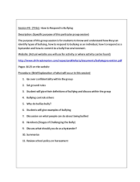 small group counseling project lessons template