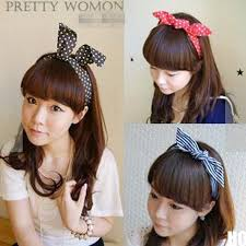 wire headband hous lovely rabbit bunny ear ribbon metal wire headband scarf hair