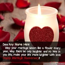 wishes for marriage anniversary wishes for parents with name