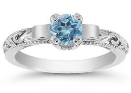 blue topaz engagement rings deco blue topaz engagement ring 14k white gold