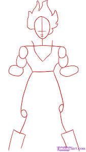 draw super saiyan goku dragon ball step step