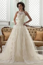 robe de mariã e bustier dentelle bustier robe de mariage col haut dentelle applique broderie fleur