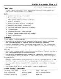 Pharmacy Resume Examples by Example Resume Pharmacist Pharmacist Resume Examples To Enhance