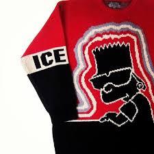 iceberg sweater sweater black bart crimson white vanilla hip