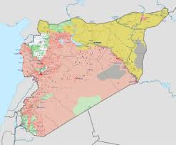 syria on map syrian civil war