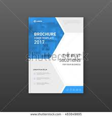 medical brochure cover template flyer design stock vector