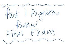 showme algebra 1 final exam cognero