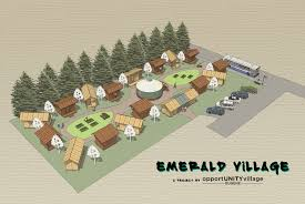 how tiny house villages could solve america s homeless epidemic how tiny house villages could solve america s homeless epidemic emerald village concept plan inhabitat green design innovation architecture
