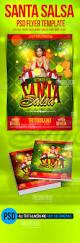 salsa santa psd flyer template christmas party flyer templates