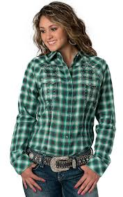 plaid ethnique chic rock 47 by wrangler women u0027s green blue and grey plaid w