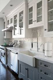 white kitchen cabinets with white backsplash stylish two tone kitchen cabinets for your inspiration grey