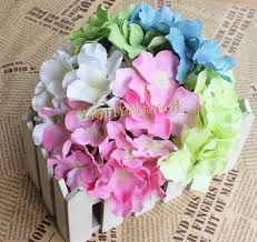 diy hydrangea silk flowers head artificial silk flower simulation
