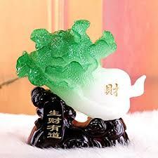 du lijun 2016 resin crafts jade ornaments with a silver spoon in