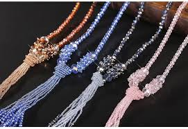long crystal tassel necklace images 2018 new fashion crystal long chain necklace tassel necklace jpg