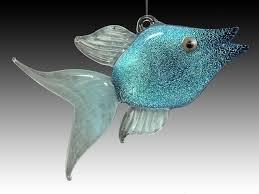 fish ornaments working glass