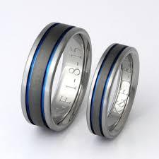 thin blue line wedding band titanium wedding band set thin blue line rings his and