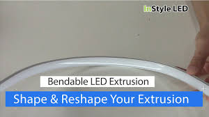 circular led light strip bendable aluminium extrusions for led strip lights youtube