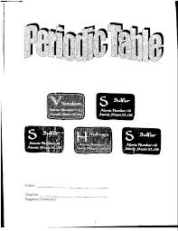 periodic table packet
