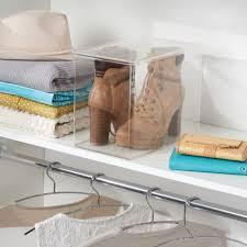 amazon com interdesign closet storage organizer shoe box for