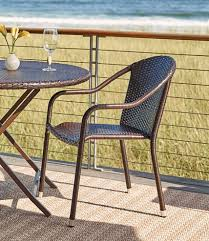Yellow Bistro Chairs Wicker Stackable Bistro Chairs Set Of Two