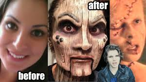 prosthetic makeup before and after makeup transformations