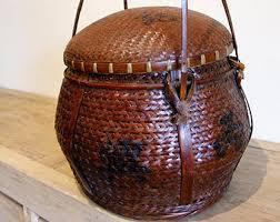 Round Wicker Basket Etsy