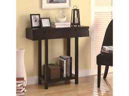 Entry Shelf Coaster Accent Tables Modern Entry Table With Lower Shelf Dunk