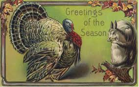 bumble button thanksgiving free clip from antique postcards